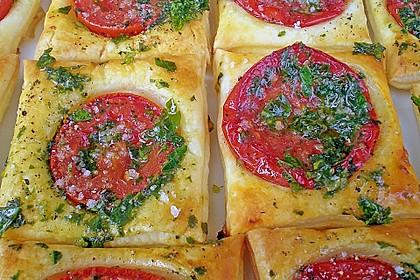 Blätterteig - Tomaten - Quadrate 21