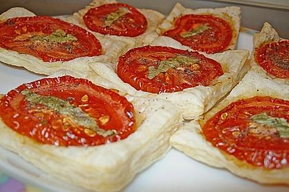 Blätterteig - Tomaten - Quadrate 128