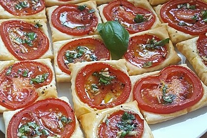Blätterteig - Tomaten - Quadrate 36