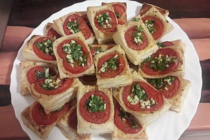 Blätterteig - Tomaten - Quadrate 37