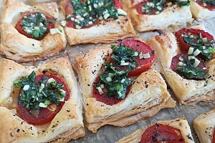 Blätterteig - Tomaten - Quadrate 58