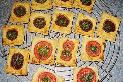 Blätterteig - Tomaten - Quadrate 219