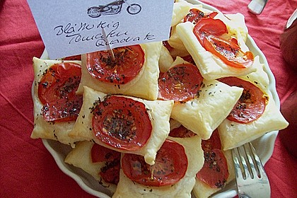 Blätterteig - Tomaten - Quadrate 126