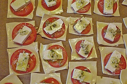 Blätterteig - Tomaten - Quadrate 176