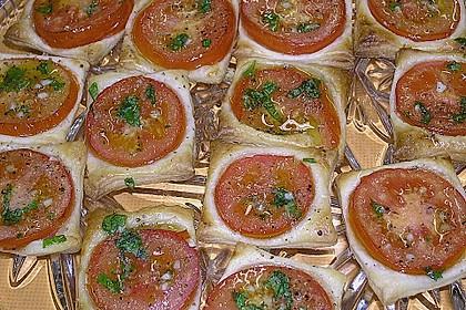 Blätterteig - Tomaten - Quadrate 220