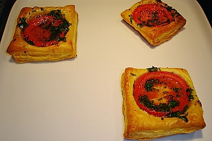 Blätterteig - Tomaten - Quadrate 163