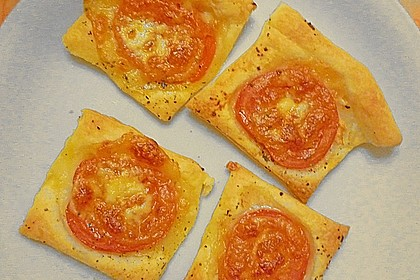 Blätterteig - Tomaten - Quadrate 184
