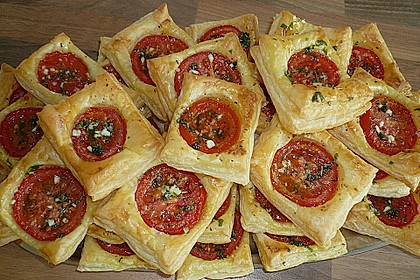 Blätterteig - Tomaten - Quadrate 95