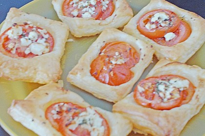 Blätterteig - Tomaten - Quadrate 222