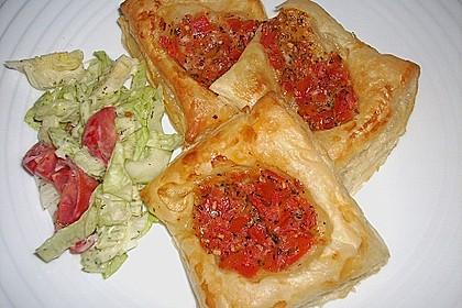 Blätterteig - Tomaten - Quadrate 149