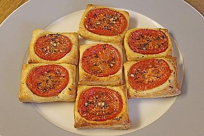 Blätterteig - Tomaten - Quadrate 44