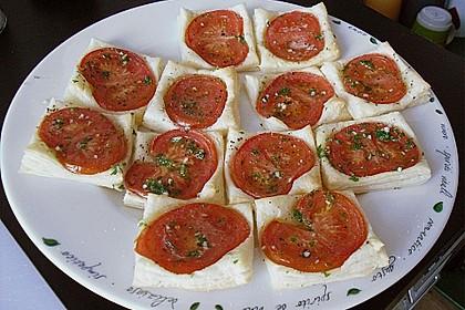 Blätterteig - Tomaten - Quadrate 160