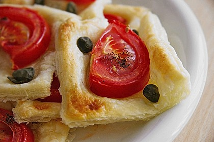 Blätterteig - Tomaten - Quadrate 40