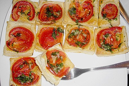 Blätterteig - Tomaten - Quadrate 139