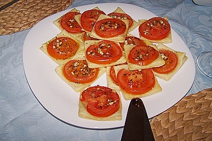 Blätterteig - Tomaten - Quadrate 161