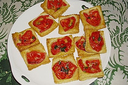Blätterteig - Tomaten - Quadrate 229