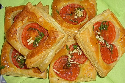 Blätterteig - Tomaten - Quadrate 78