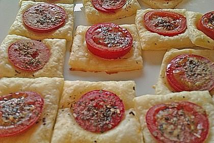 Blätterteig - Tomaten - Quadrate 226