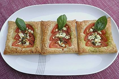 Blätterteig - Tomaten - Quadrate 26