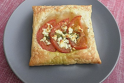 Blätterteig - Tomaten - Quadrate 71