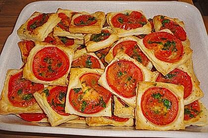 Blätterteig - Tomaten - Quadrate 32