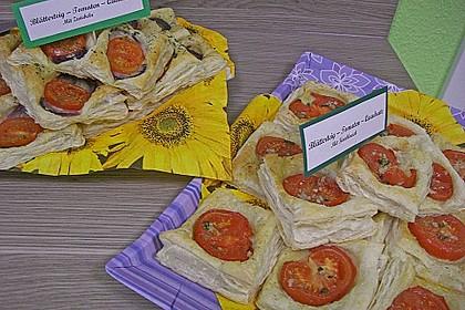 Blätterteig - Tomaten - Quadrate 140