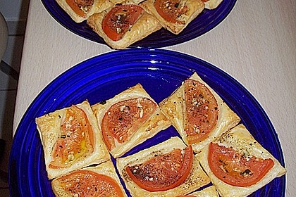 Blätterteig - Tomaten - Quadrate 215