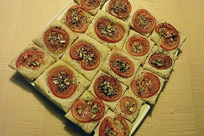 Blätterteig - Tomaten - Quadrate 234