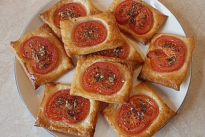 Blätterteig - Tomaten - Quadrate 82