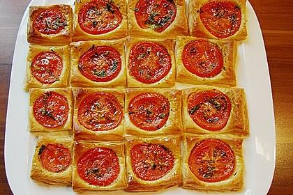 Blätterteig - Tomaten - Quadrate 73