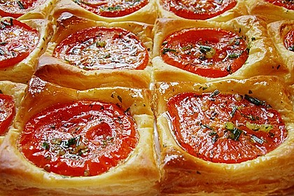 Blätterteig - Tomaten - Quadrate 59