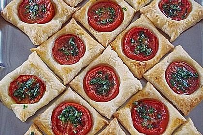 Blätterteig - Tomaten - Quadrate 121