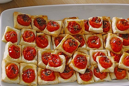 Blätterteig - Tomaten - Quadrate 174