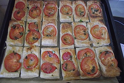 Blätterteig - Tomaten - Quadrate 242