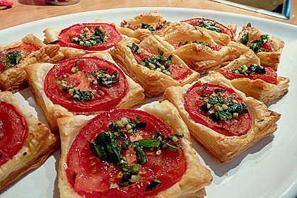 Blätterteig - Tomaten - Quadrate 49