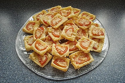 Blätterteig - Tomaten - Quadrate 198