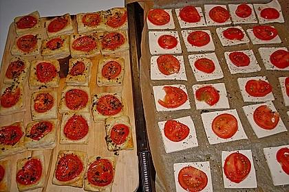 Blätterteig - Tomaten - Quadrate 199