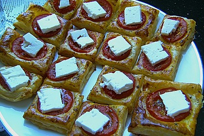 Blätterteig - Tomaten - Quadrate 246