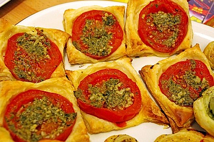 Blätterteig - Tomaten - Quadrate 156