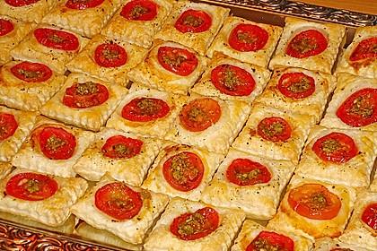 Blätterteig - Tomaten - Quadrate 86