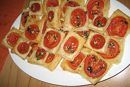 Blätterteig - Tomaten - Quadrate 72