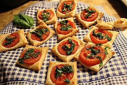 Blätterteig - Tomaten - Quadrate 27