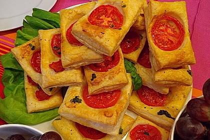 Blätterteig - Tomaten - Quadrate 152