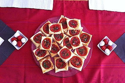 Blätterteig - Tomaten - Quadrate 154