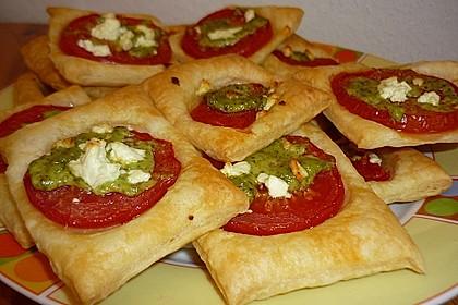 Blätterteig - Tomaten - Quadrate 48