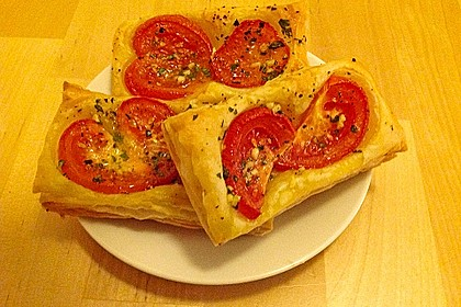 Blätterteig - Tomaten - Quadrate 164