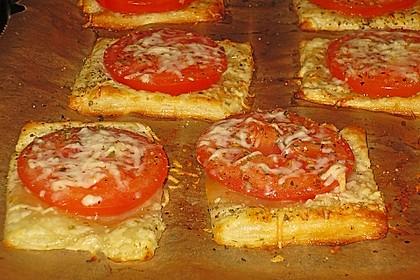 Blätterteig - Tomaten - Quadrate 150