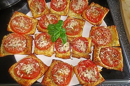 Blätterteig - Tomaten - Quadrate 134