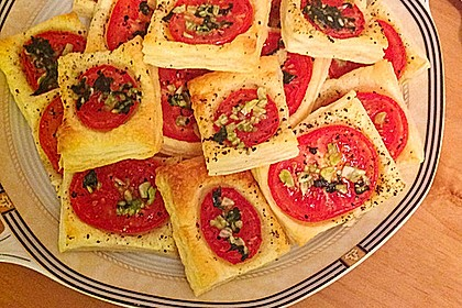 Blätterteig - Tomaten - Quadrate 158