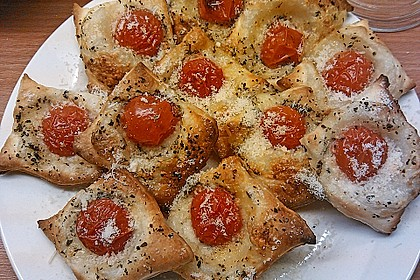 Blätterteig - Tomaten - Quadrate 91